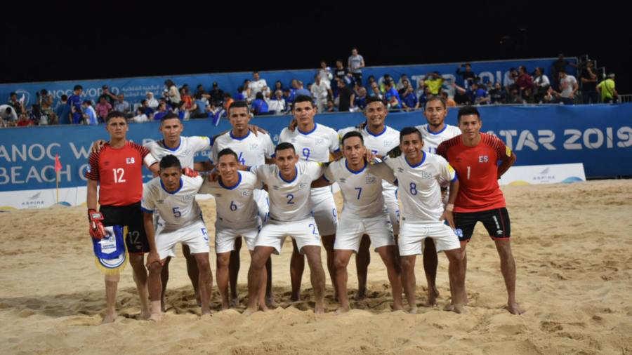 Juegos Mundiales Catar 2019.  El Salvador - Juegos y resultados. Selec-Playa