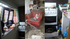 Explosión de gas propano destruye casa y deja una persona lesionada en Mejicanos