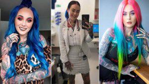 Sarah Gray, la doctora que tiene tatuajes en todo su cuerpo