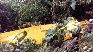 Fatal accidente en avioneta cobró la vida de dos de los pasajeros en zona del Boquerón