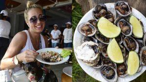 Los deliciosos bocadillos salvadoreños que turistas disfrutaron durante el Surf Latin Pro 2019 en El Tunco