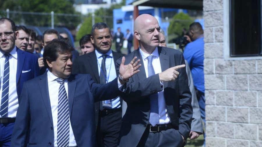 XVIII Congreso Ordinario de UNCAF y visita del presidente de FIFA Gianni Infantino a El Salvador. Gianni-Infantino-en-El-Salvador
