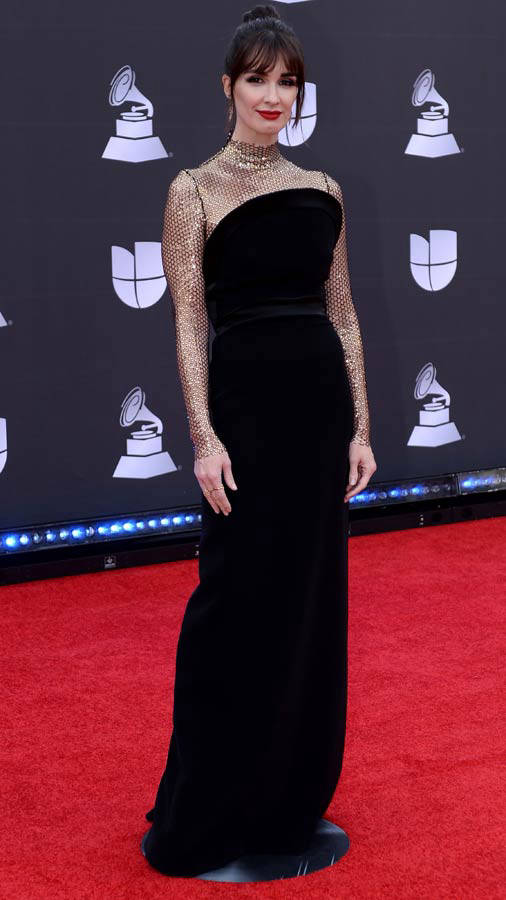 Spaniard actress Paz Vega arrives at the 20th Annual Latin Grammy Awa