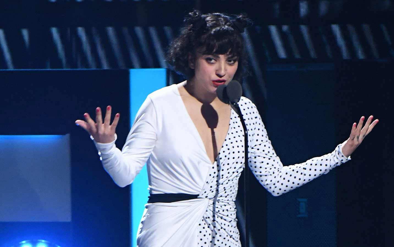 Chilean singer Mon Laferte speaks during the 20th Annual Latin Grammy