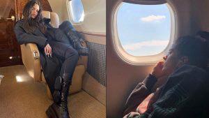 Rosalía desata la polémica tras publicar foto en un jet privado