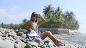 Belleza y buen ambiente en El Tunco durante el Surf Latin Pro 2019