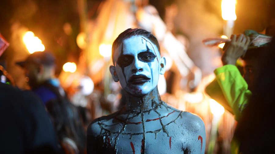 Estos son los escalofriantes personajes del Festival de la Calabiuza en Tonacatepeque   Noticias - elsalvador.com
