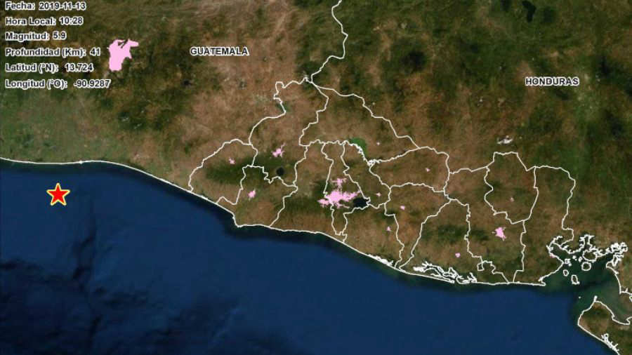 Sismo magnitud 5.9 sacude San Salvador - elsalvador.com