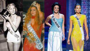Ellas son las salvadoreñas que han destacado en los concursos de Miss Universo