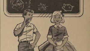 La difícil elaboración de los anuncios escolares en los años 60