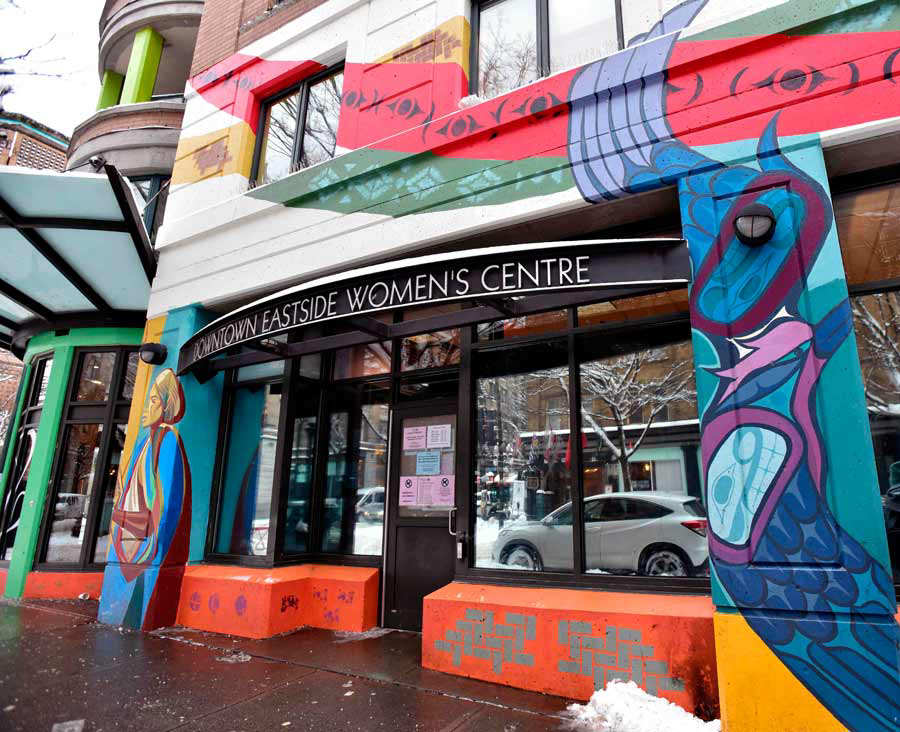 Downtown Eastside Women's Centre facade is pictured in Vancouver