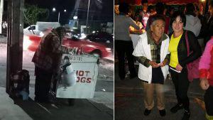Una fotografía en Facebook ayudó a que don Abel vendiera todos los hot dogs de su carrito