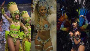 Sensualidad y belleza al ritmo de samba en el primer día de Carnaval en Brasil