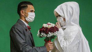 Una boda en medio de la emergencia del coronavirus en la franja de Gaza