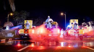 Gobierno de Dubái utiliza drones para sanitizar la ciudad contra coronavirus
