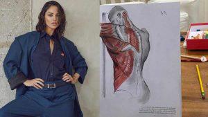 Dibujos, bikinis y solidaridad,, así pasa la cuarentena la actriz Eiza González