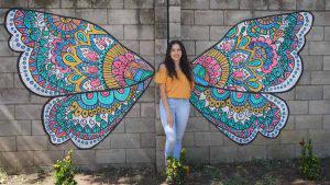 El esperanzador mural elaborado por una familia ahuachapaneca durante la cuarentena