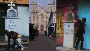 El silencioso y solitario Vía Crucis en el centro de San Salvador