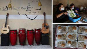 El bar La Ataraxia lleva alivio a los más necesitados durante la cuarentena
