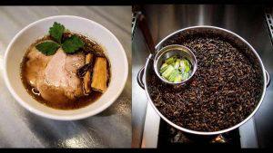 Sopa de grillos y fideos, el extraño platillo ofrecido por un joven japonés