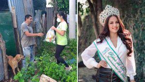 Odry Granera, reina de San Miguel, deja la corona para ayudar a los más afectados por la pandemia y las lluvias