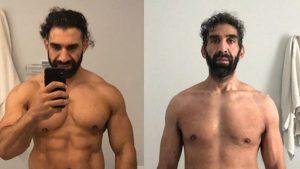 Ahmad Ayyad y el impactante cambio en su cuerpo después de sobrevivir al COVID-19