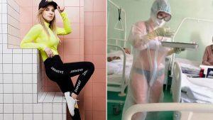 La enfermera rusa que atendió a pacientes de COVID-19 en ropa interior se convirtió en modelo