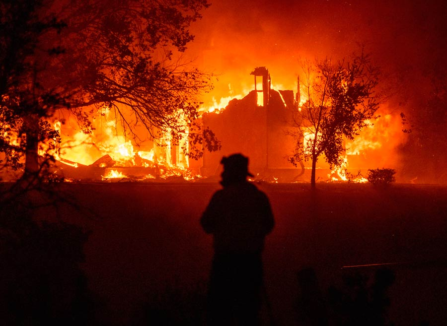 TOPSHOT - A home burns in Vacaville