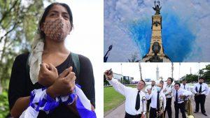 Actos cívicos, música y protestas: así se conmemoró la Independencia en El Salvador
