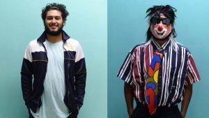 El antes y después de los maestros que se vistieron de payaso para visitar a su alumnos en Opico