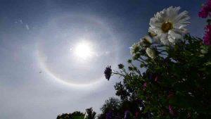Impresionante halo solar visto desde varios puntos de El Salvador