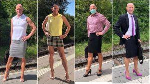 Mark Bryan, el ingeniero en robótica que va al trabajo usando falda y tacones