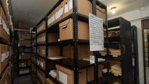 Imágenes de la inspección de archivos del caso El Mozote en el Arzobispado