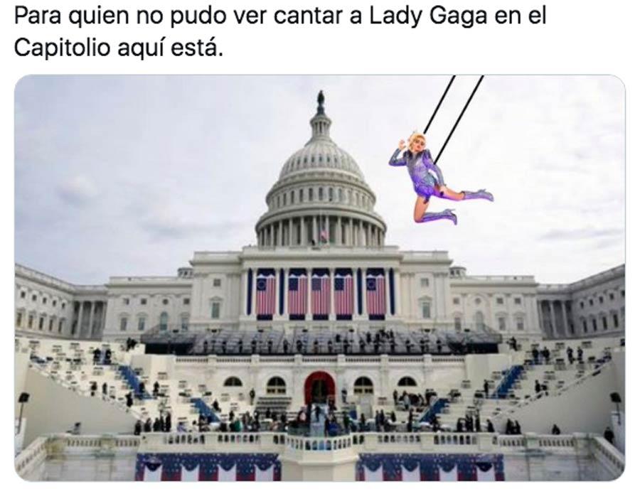 Biden y Harris toma posesion meme Lady Gaga_03
