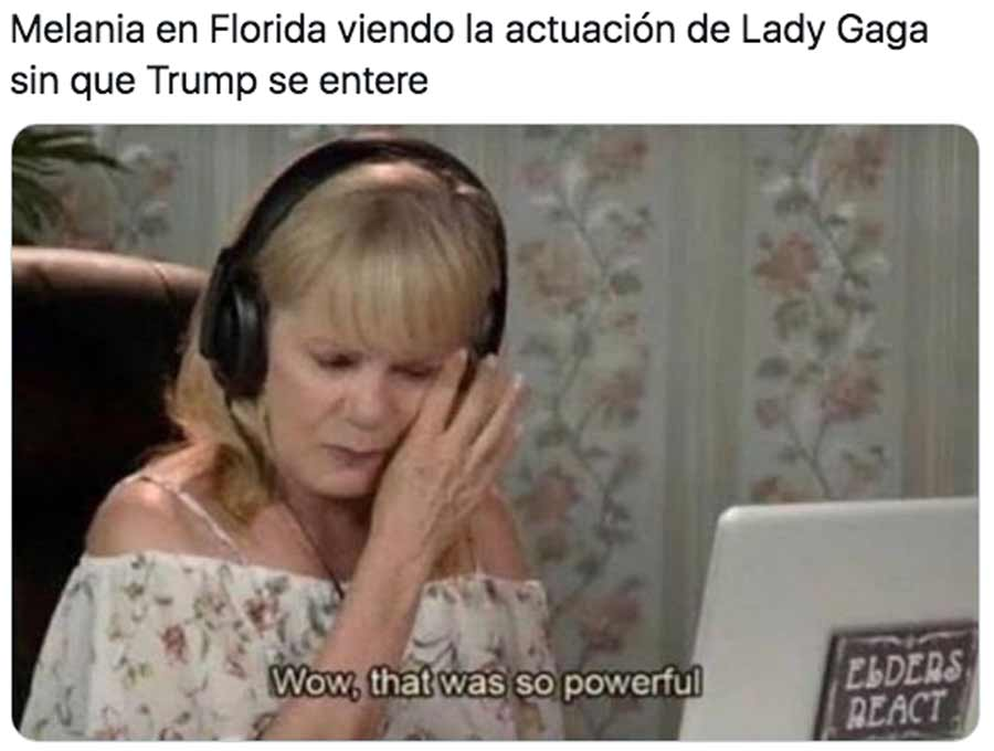 Biden y Harris toma posesion meme Lady Gaga_09