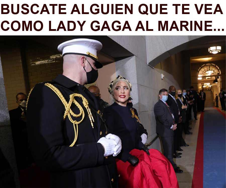 Biden y Harris toma posesion meme Lady Gaga_10