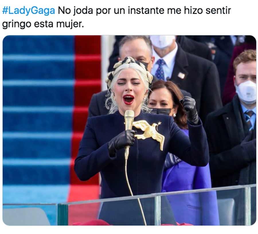 Biden y Harris toma posesion meme Lady Gaga_11