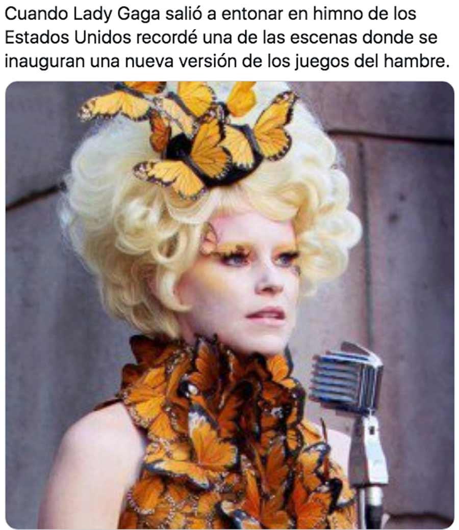 Biden y Harris toma posesion meme Lady Gaga_13