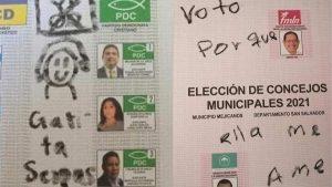 FOTOS: Estos son los curiosos mensajes que los votantes dejaron en las papeletas de votación