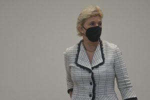 Imágenes del juicio contra Ana Ligia de Saca y otros siete acusados de lavado de dinero