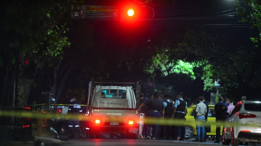 Escena resconstruida del ataque a caravana FMLN