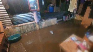 Casas inundadas tras la lluvia de anoche en Aguilares