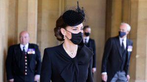 Kate Middleton y su deslumbrante look durante el sepelio del esposo de la reina Isabel