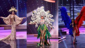 Miss El Salvador destaca con su atuendo típico en el certamen Miss Universo