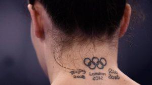Tatuaje Olímpico. Atletas se han marcado su piel con los aros en honor a los Juegos