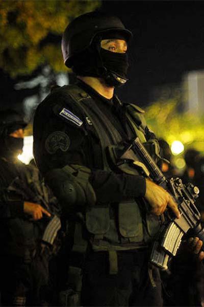 EL SALVADOR-POLICE-ANTI GANG